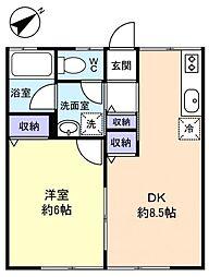 シティハイム セブンキヨ[1階]の間取り
