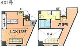 福岡県福岡市中央区渡辺通4丁目の賃貸マンションの間取り