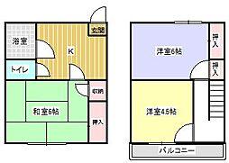 [テラスハウス] 茨城県鹿嶋市大字平井 の賃貸【/】の間取り