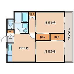 静岡県静岡市駿河区見瀬の賃貸マンションの間取り