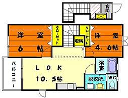 サンセールHN II[2階]の間取り
