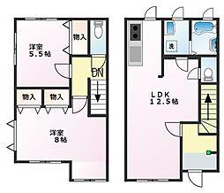 [テラスハウス] 神奈川県横須賀市野比4丁目 の賃貸【/】の間取り