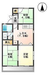 サンハイツII A[2階]の間取り