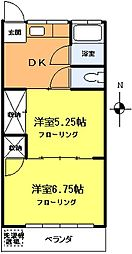 ホマレコーポ[3階]の間取り