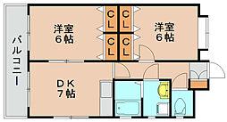 ボンシャンス[2階]の間取り