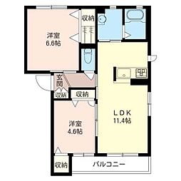 Casa domani[2階]の間取り