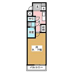 ルクラ京都三条油小路[4階]の間取り