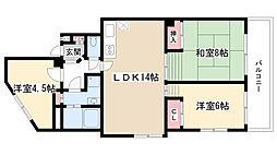シエロ名東[5階]の間取り