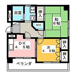 レインボー尾頭橋Ⅱ[8階]の間取り