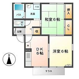 AIKA A[1階]の間取り
