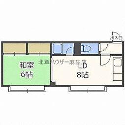 メゾンステラII[1階]の間取り