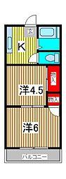 コーポひろき[2階]の間取り