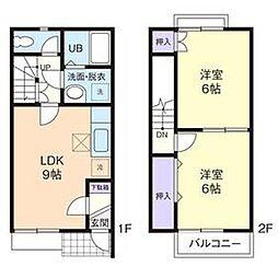 [テラスハウス] 神奈川県厚木市棚沢 の賃貸【/】の間取り