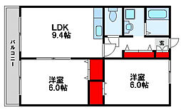 スクールビュー赤間[2階]の間取り