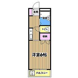 コーポラス小金井[3階]の間取り
