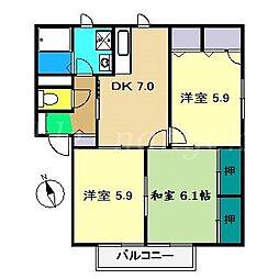 シャーメゾン21 A棟[2階]の間取り