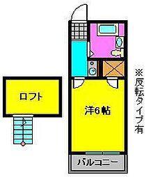 メゾントヤマ[2階]の間取り