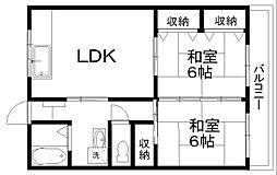 コーポ北日本[3階]の間取り