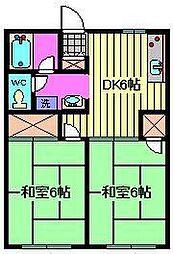 ユウハイツ[2階]の間取り