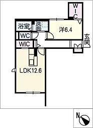 仮)リ ベルジェ II[1階]の間取り