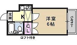 山科第3[205号室号室]の間取り