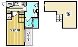 安立荘[1階]の間取り