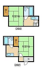 中井マンション[202号室]の間取り