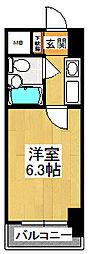 カスタリア船橋[307号室]の間取り