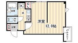 京都府京都市南区西九条東島町の賃貸マンションの間取り