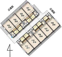 レモンハウス高坂7[205号室]の間取り