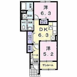 カ−サ・アバンツァ−ト 3号館[0102号室]の間取り