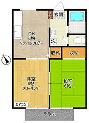 ヴィレッジ II - Village II -[1階]の間取り
