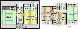 [一戸建] 大阪府大阪市東淀川区淡路4丁目 の賃貸【/】の間取り