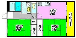 メゾンドール・水野 503号室[5階]の間取り