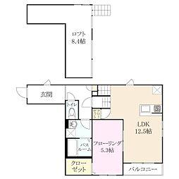 H ブランド 新宮[2階]の間取り