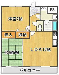 フレア武庫之荘[2階]の間取り