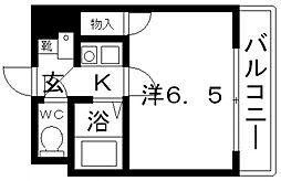 ハートフル藤井寺[201号室号室]の間取り