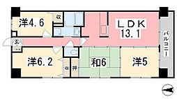 リベール姫路駅前[802号室]の間取り