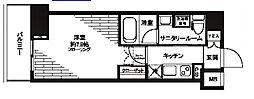 都営三田線 芝公園駅 徒歩5分の賃貸マンション 11階1Kの間取り