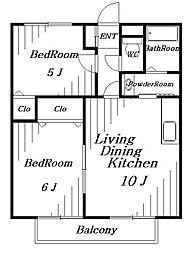 N・Yハイツ[2階]の間取り