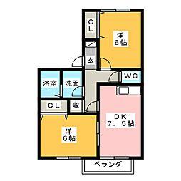 セジュール未来[1階]の間取り