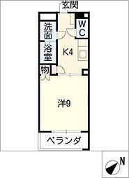キャッスル123[4階]の間取り