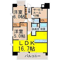 プログレッソ瑞穂汐路[6階]の間取り