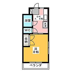マンションジュネス VI[2階]の間取り