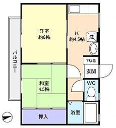 サニーヒルA[2階]の間取り
