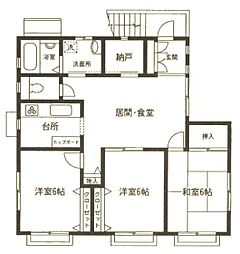 中村貸室[2F号室]の間取り