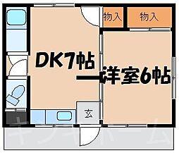 広島県安芸郡海田町新町の賃貸アパートの間取り