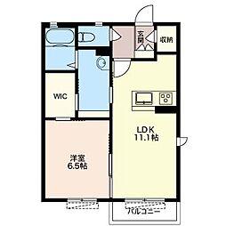 仮称 シャーメゾン笠原B[2階]の間取り