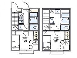 レオパレスサンロード[2階]の間取り