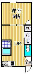 金城マンション[4階]の間取り